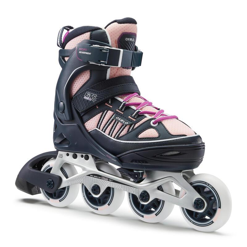 Fit 5 Jr Kids' Inline Fitness Skates - Blue/Coral