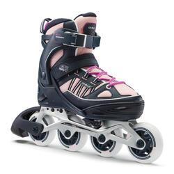 Fit 5 Kids' Inline Fitness Skates - Pale Peach / DARK BLUE