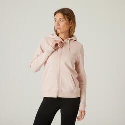 Sweatjacke Kapuze warm Fitness rosa
