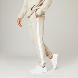 Pantaloni pesanti slim uomo fitness 560 beige