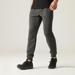 Pantaloni uomo fitness 500 grigio scuro