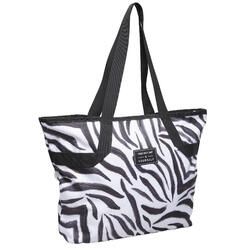 The zebra-print sport tote with character: a must-have for your fitness kit.