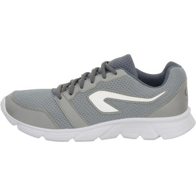 CHAUSSURE JOGGING HOMME RUN 100 GRIS