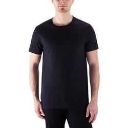 Camiseta Sportee 100% algodón negro hombre
