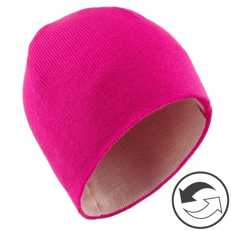 BONNET DE SKI ENFANT REVERSE ROSE ROSE