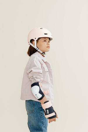 Kids' Set of Inline Skate Protectors Play - Bridal Pink