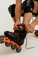 FIT500 Inline Fitness Skates - Acid Orange