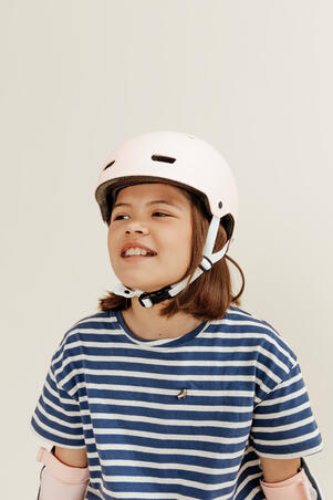 Inline Skating Skateboarding Scootering Helmet MF500 - Bridal Pink