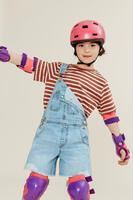 Casque planche à roulettes et trottinette B100 rose - Enfants