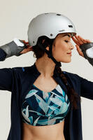 Casco Roller Skateboard Patinete MF500 Gris
