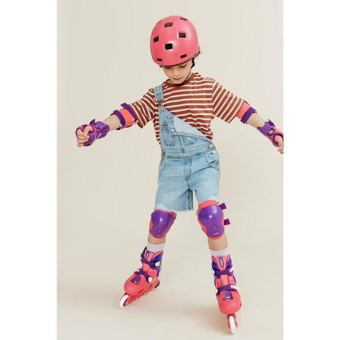 Proteções para Patins Criança PLAY Rosa (Conjunto)