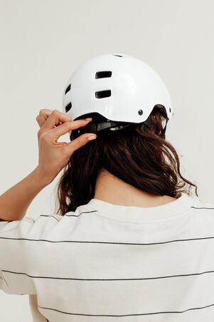 Inline Skating Skateboarding Scootering Helmet MF500 - White