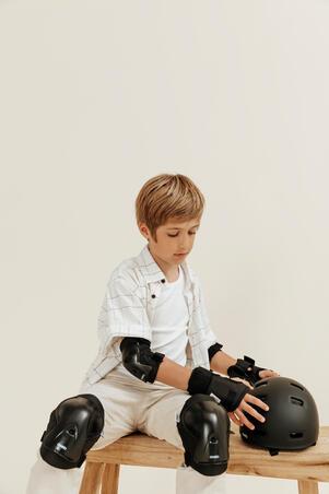 Set 3x2 protections roller enfant PLAY noir