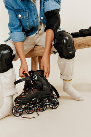Kids Inline Skates Fit 3 Black - Oxelo