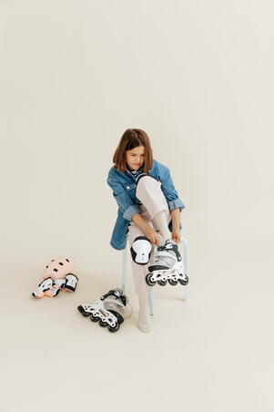 Kids Inline Skates Fit 3 Grey - Oxelo