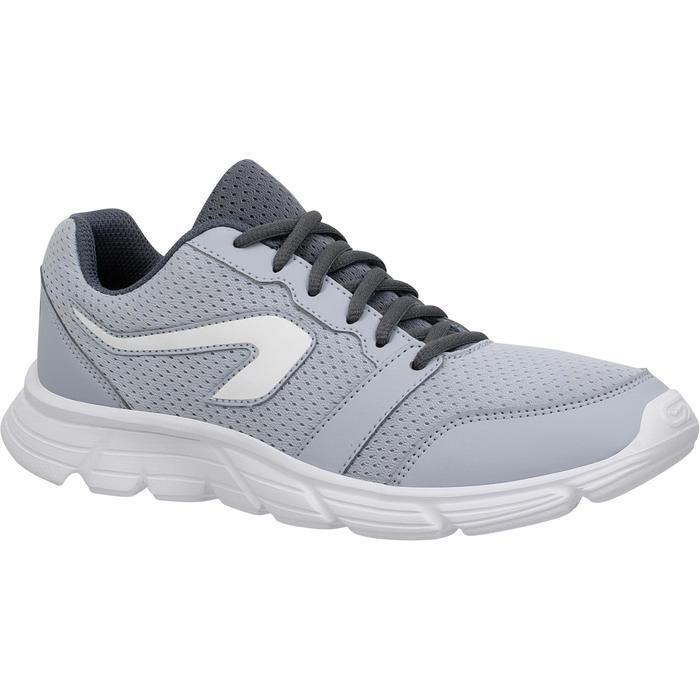 Zapatillas Jogging Running Kalenji Run One Mujer Gris Niebla/Blanco