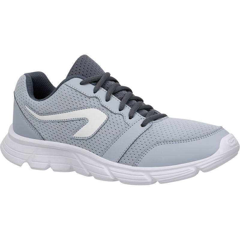 DÁMSKÉ BOTY NA JOGGING / PŘÍLEŽITOSTNÉ POUŽITÍ Běh - BOTY RUN 100 ŠEDÉ  KALENJI - Běžecká obuv