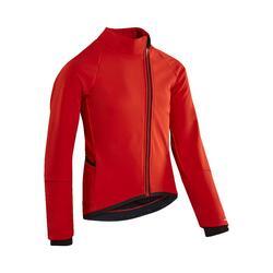 Giacca ciclismo bambino 900 nero-rosso