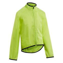 Regenjas voor op de fiets kinderen 100 geel