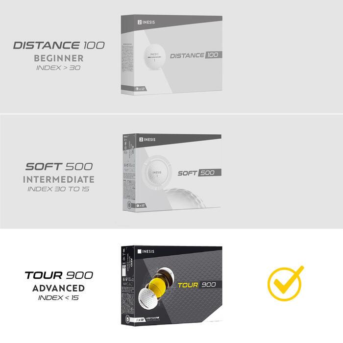 Golfbälle Tour 900 12Stück gelb
