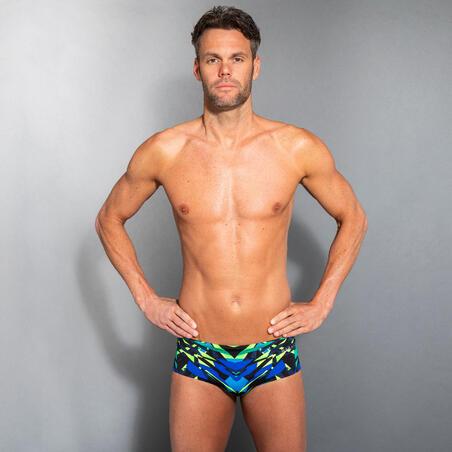 Men's Swimming Square-cut Briefs 900 Kal Green