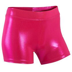 Pantaloncini ginnastica artistica femminile 500 rosa