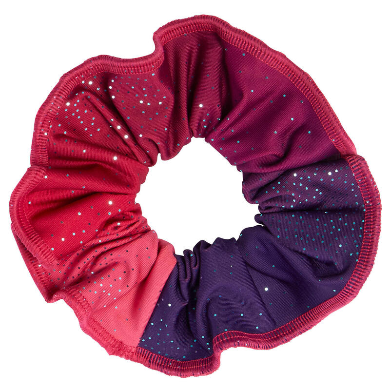 Chouchou à paillettes dégradé rose et violet gymnastique artistique féminine