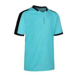 兒童款足球短袖上衣F520-藍灰配色