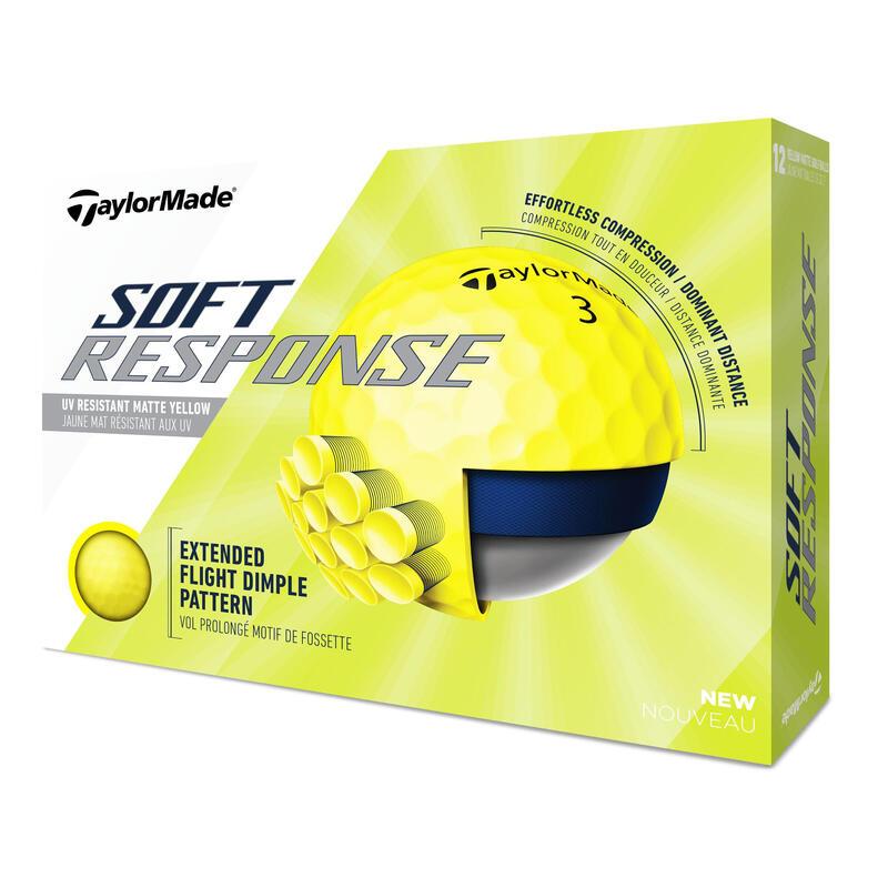 Balle de golf SOFT RESPONSE X12 jaune