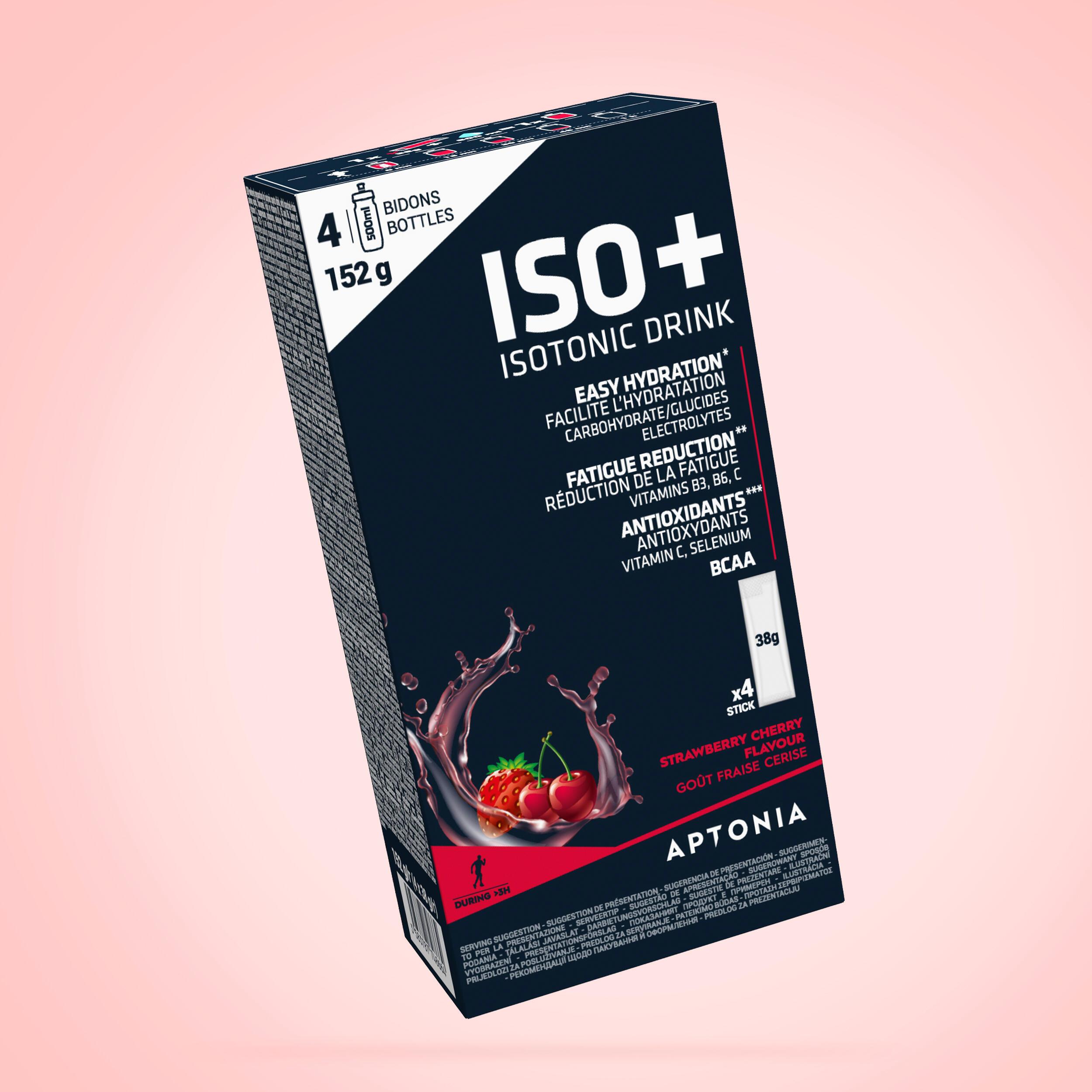 APTONIA. Bevanda isotonica in polvere ISO+ fragola-ciliegia 4x38g