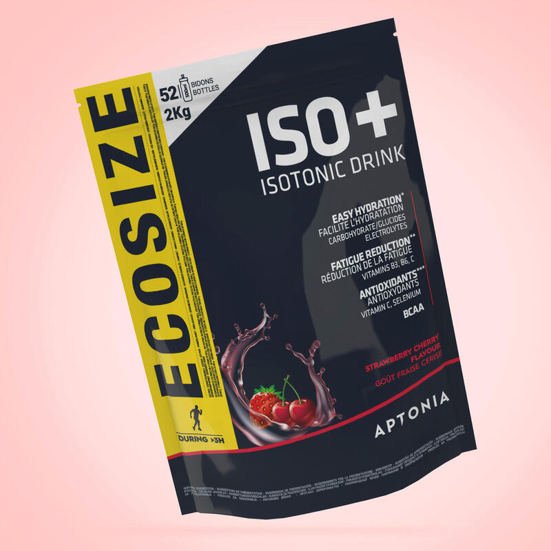 ISO+ Isotonic Drink Powder 2kg - strawb. cherry