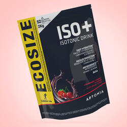 Poeder voor isotone sportdrank ISO+ aardbei/kers 2 kg