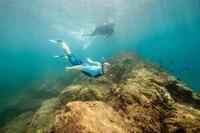 Kit palmes masque tuba de snorkeling SNK 500 Ad bleu