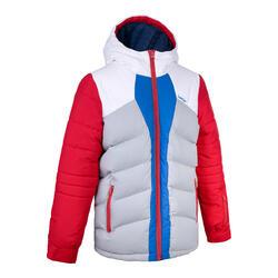 男款兒童保暖外套 SKI-P 500 紅藍