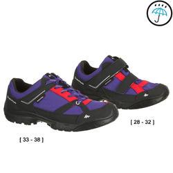 Waterdichte wandelschoenen Arpenaz 50 voor kinderen blauw/koraal