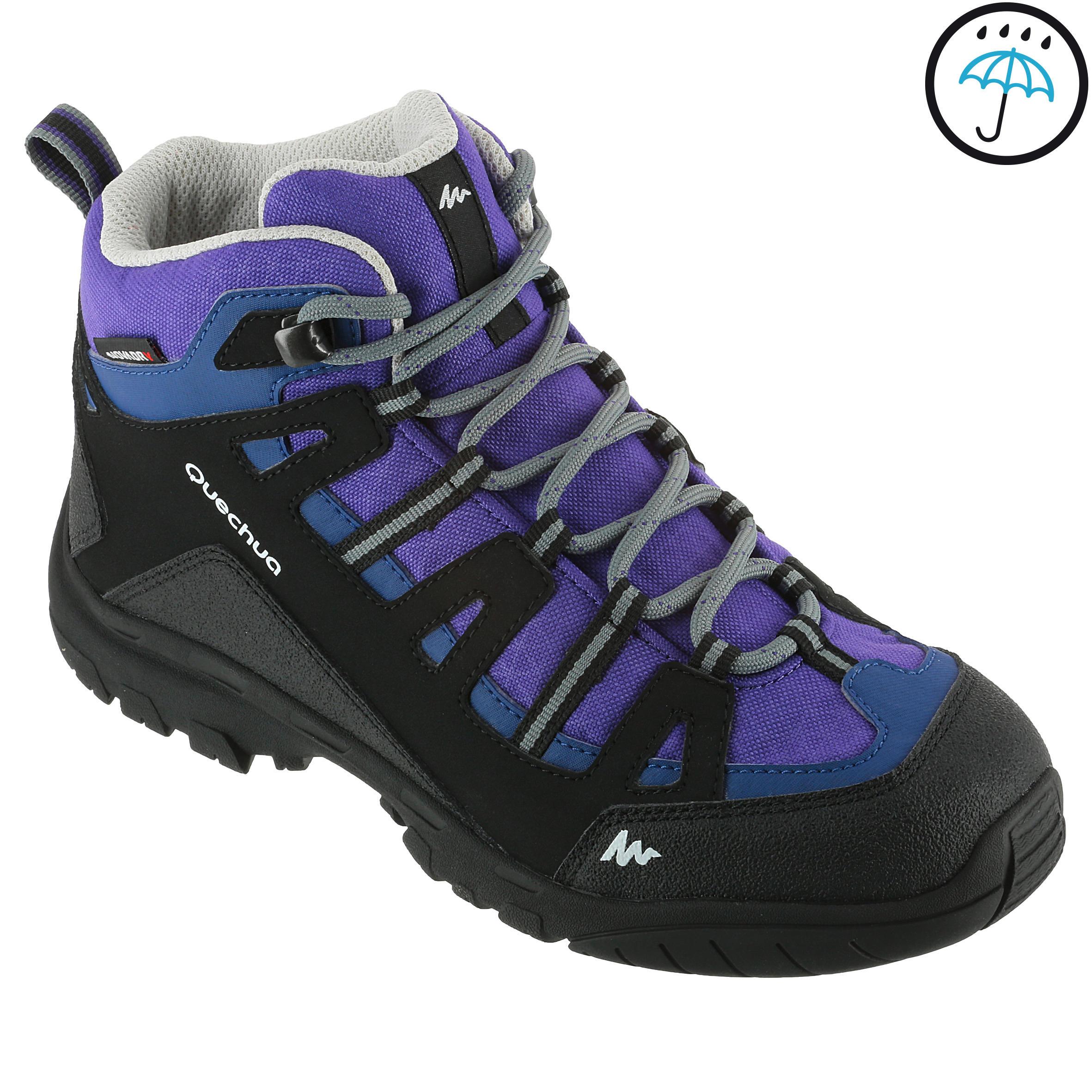Arpenaz 100 Children's Waterproof Hiking Shoes Med – Purple