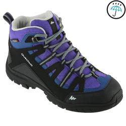 NH500 JR Mid Waterproof Hiking Shoes - Coral DARK PURPLE UK 5 - EU 38