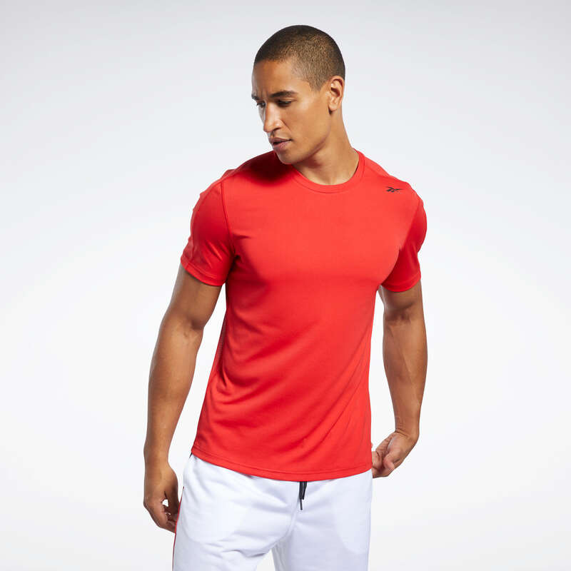 ОДЕЖДА МУЖСКАЯ / ФИТНЕС КАРДИОТРЕНИРОВКИ Одежда - Reebok T-shirt Red REEBOK - Одежда