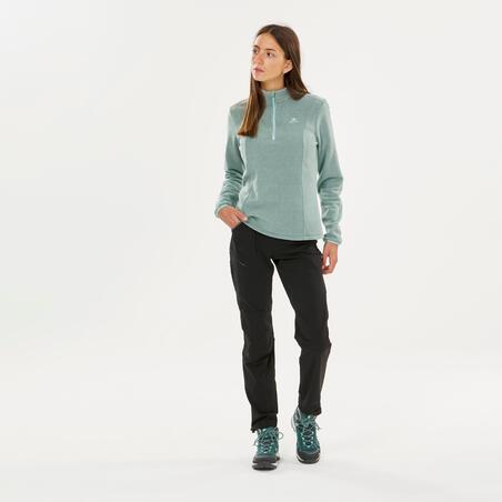 Sudadera de tejido polar para senderismo - MH100 - mujer