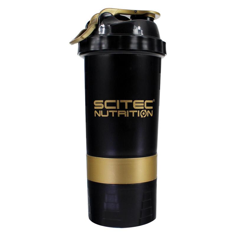 SCITEC SHAKER 500ML BLACK GOLD
