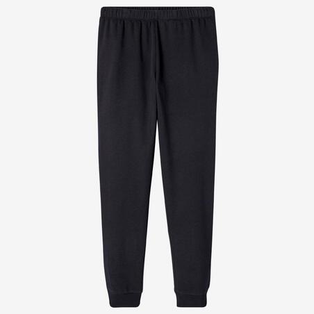 Pantalon jogging Molleton Fitness Noir