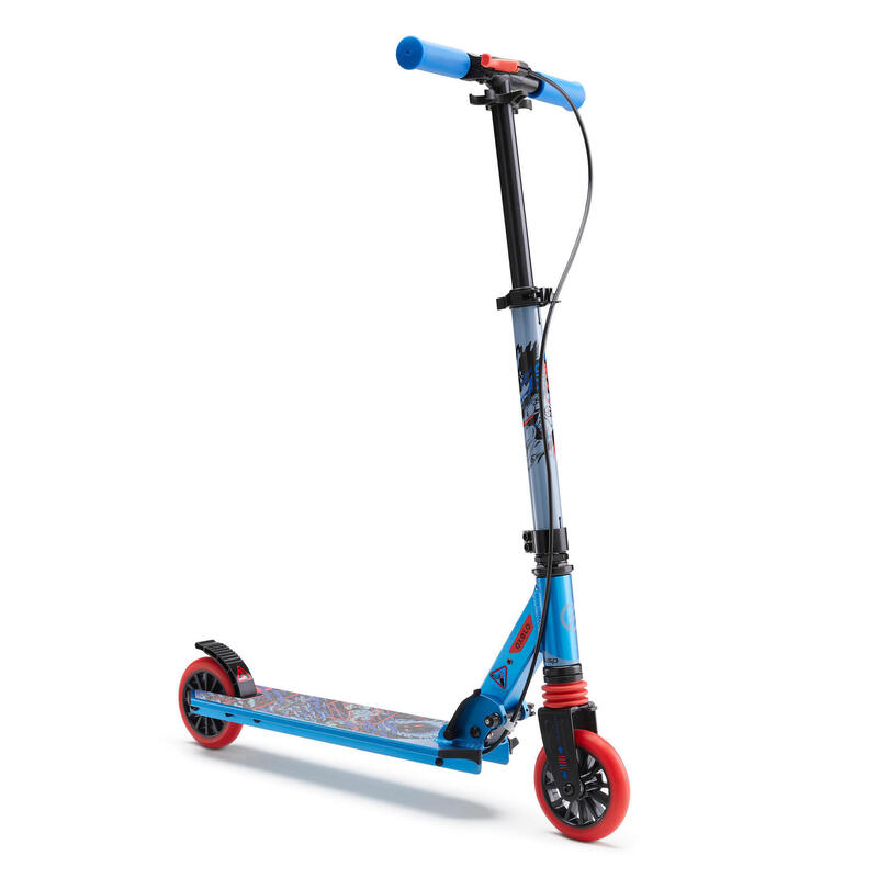 MID 5 Kids' Scooter with Handlebar Brake and Suspension - Superhero