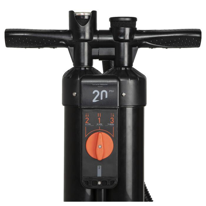 Schnellpumpe für SUP und Kajak Hochdruck 20 PSI 3× ACTION