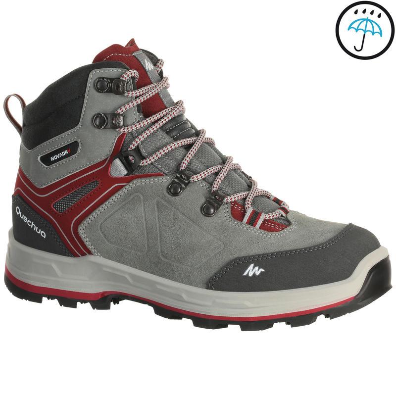 9a916d41e22 Trekking 100 Waterproof Woman's Shoe - Grey