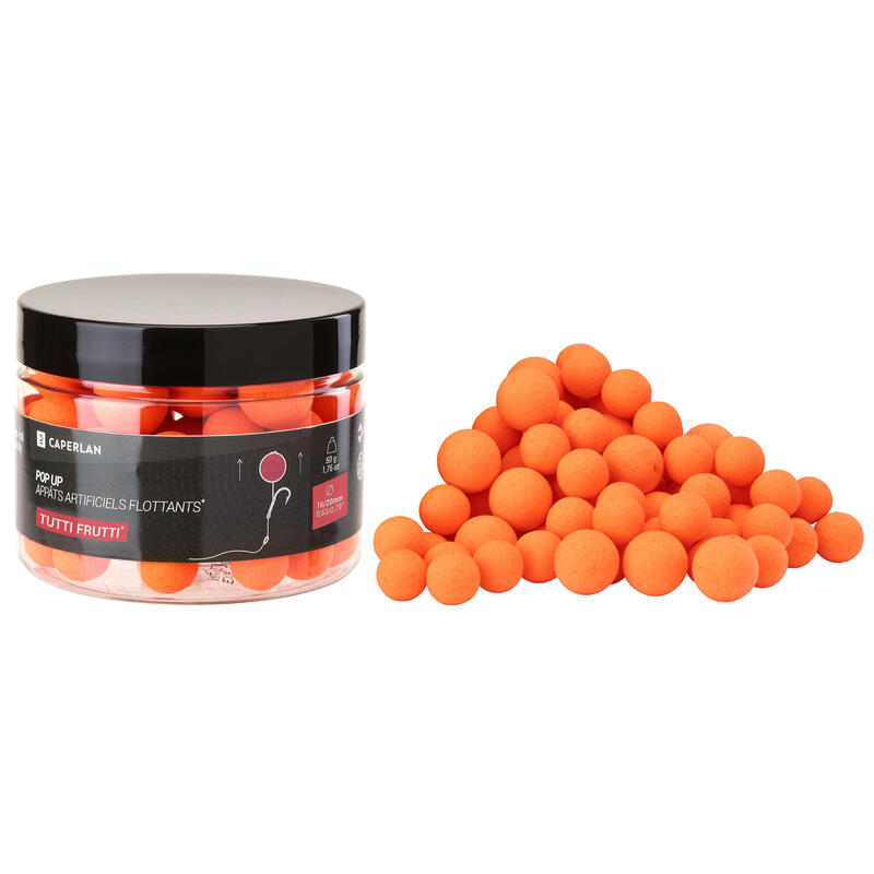 Bouillettes Flottantes pêche de la carpe POP-UPS 12-14mm Tutti Frutti