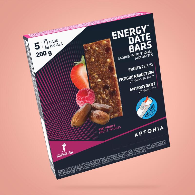 Baton energetyczny Aptonia daktyle i czerwone owoce 5x40g