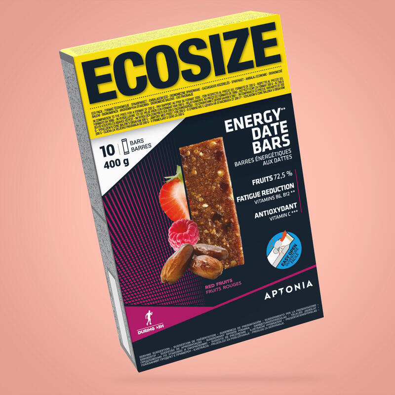Barretta energetica ai datteri e ai frutti rossi ECOSIZE 10x40g