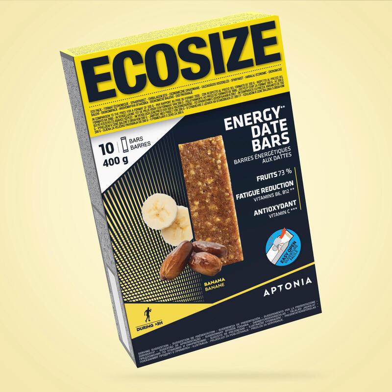 Barrita energética con dátiles y plátano ECOSIZE 10x40 g