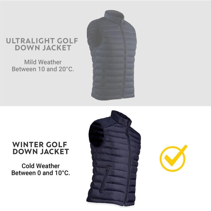 Doudoune de golf sans manches hiver homme CW500 noire