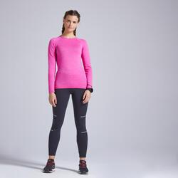 T-shirt running donna KIPRUN SKINCARE rosa